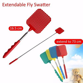 Portable Swatters Fly Killer Fly Swatter Pest Telescopic Stainless steel Anti Mosquito Pest Reject Necessary Insect Killer