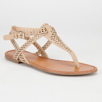 Bamboo Warner Womens Sandals Nude  In Sizes