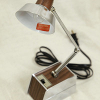 Vintage Mid Century Danish Style Desk Lamp, Jointed Lamp, Telescoping Lamp