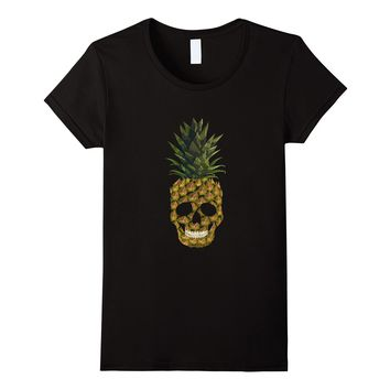Smiling Skull Pineapple- T-Shirt