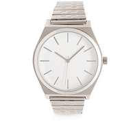 FOREVER 21 Dimpled Analog Watch Silver/White One