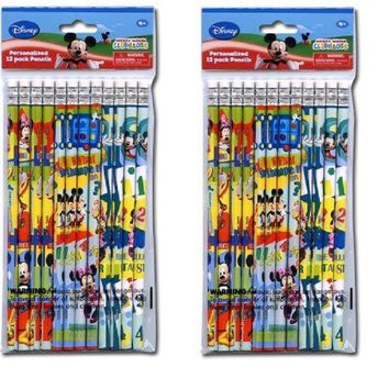 24 Pcs Disney Mickey Mouse Wood Pencils Birthday Party Favors Bag Fillers - 2 DZ