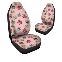 Skulls and Flowers Car Seat Covers
