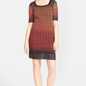 Women's M Missoni Fan Stripe Knit Dress,