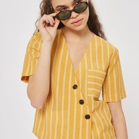 Striped Linen Shirt - Clothing