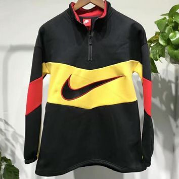 '' NIKE '' Trending High neck letters printed long sleeve sweater G-A0-LLBS