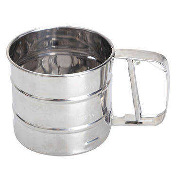 3.8 x 3.6 in. Stainless Steel Mesh Flour Sifter
