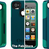 OtterBox Commuter Series Case for Apple iPhone 4 and 4S  Teal Green