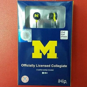 NCAA Michigan Wolverines Team Earbuds