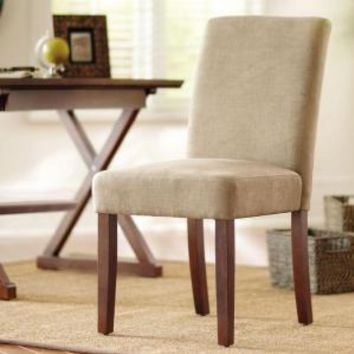 Home Decorators Collection, Brexley Chestnut Linen-Look Parson Chair, C-2215-D-KD at The Home Depot - Mobile