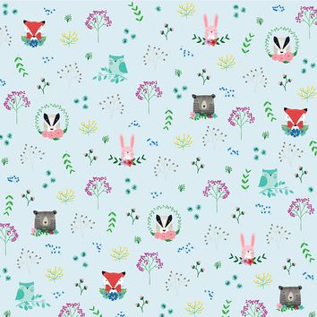 """American Crafts Animal Single-Sided Cardstock 12""""X12""""-Forest Friends"""