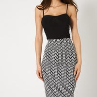 Classic Patterned Pencil Skirt