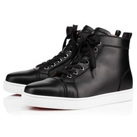 Louis Woman Flat Black Leather - Women Shoes - Christian Louboutin