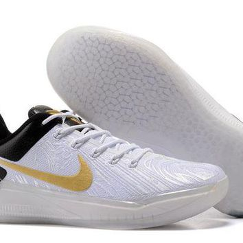 DCCKIJ2 Nike Zoom Men's Kobe A.D.EP Basketball Shoes White Black