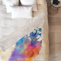 Robert Farkas Sunny Leo Fleece Throw Blanket