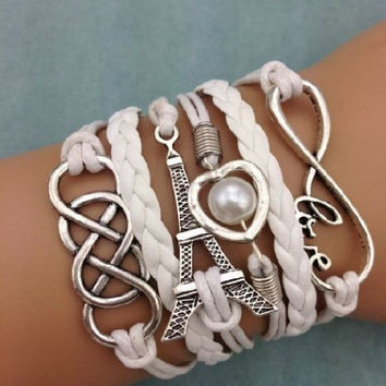 NEW Infinity Love Heart Tower Friendship Bracelet