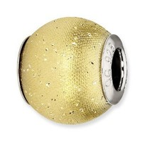 Reflection Beads Sterling Silver Gold-Plated Laser Cut Bead (12 x 11 mm)