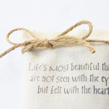 Lavender Sachet Love Quote Hand Printed by gardenmis on Etsy