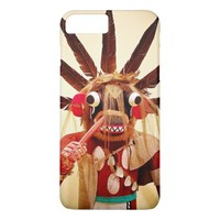 Cute, red and brown, funny face kachina doll photo iPhone 8 plus/7 plus case