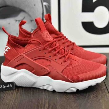 Nike Air Huarache Woven Jogging Casual Comfortable Running Shoes F-A36H-MY Red