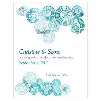 Sea Breeze Save The Date Card (Pack of 1)