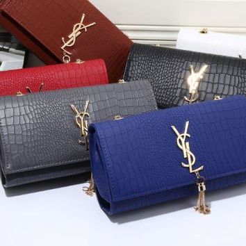 YSL 2017 new fashion leather Crackle Hand bag Shoulder Bag [110749483023]