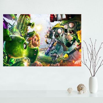 Nice Plants vs Zombies Garden Warfare Custom Canvas Poster Art Home Decoration Cloth Fabric Wall Poster Print Silk Fabric