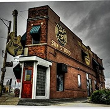 """Memphis - Sun Studio 001"" by Lance Vaughn, Canvas Print Wall Art, 24"" x 18"", Mirrored Gallery Wrap, Glossy Finish"