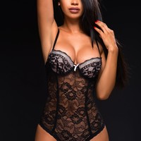 Stella Black Lace Teddy