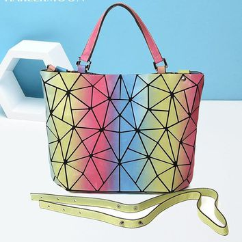 Geometric Luminous Purses and Handbags
