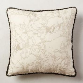 Hand-Embroidered Oracle Pillow by Anthropologie