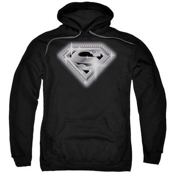 ac NOOW2 Superman - Bling Shield Adult Pull Over Hoodie