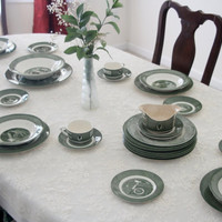 Vintage Royal Colonial Homestead Wedding gift Holiday Dinnerware Set