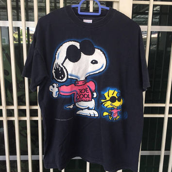 Vintage 90s Snoppy Peanut Joe Cool T Shirt Size M
