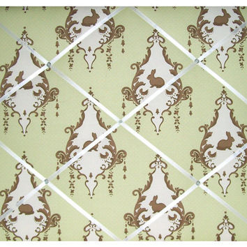 Green Bunny Toile Lily & Will II Nursery by toilechicboutique