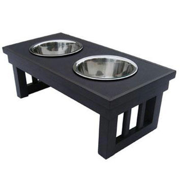 Dog Bowl Double Raised Lrg Esp