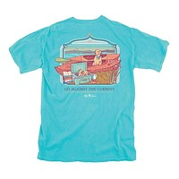 Dogs with Kayak Tee in Tide by Lily Grace
