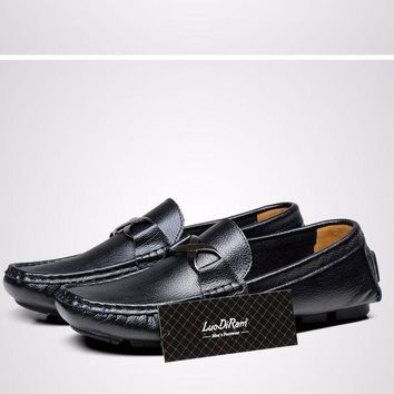 Brand Hot Sale Big Size Genuine Leather High Quality Men Moccasin
