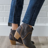 Chasing Sunset Skies Booties - Charcoal