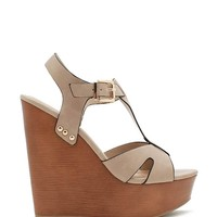 Lasky-S Everyday T Strap Wedge