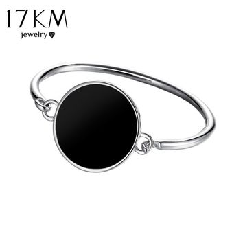 17KM Boho Disc Cuff Coin Bangle Fashion Acrylic Bracelets & Bangles For Women Gift Punk Cuff Bracelet Luxury Jewelry