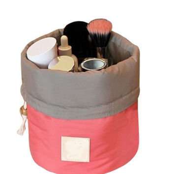 Multifunction Cosmetic Bag Big Capacity Barrel Toiletry Storage Bags
