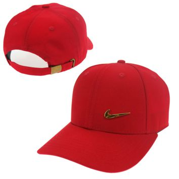 Red Nike Baseball Cap Hat