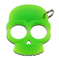 Zombie Green Skull Self Defense Keychain