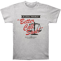 Breaking Bad Men's  Better Call Saul Slim Fit T-shirt Grey Rockabilia