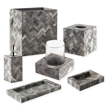Osso Accessories by Kassatex Natural Bone Bath Ensemble