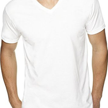 Next Level mens Premium Fitted Sueded V-Neck Tee (6440)