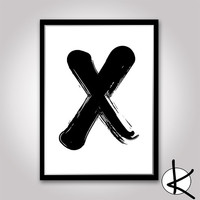 "XO Set - 2 x Prints 11x14 or 12x16 (A3) Typography Art ""XO"" Hugs & Kisses"