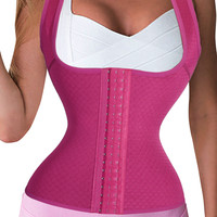 Best Waist Trainer Corset. Plus Size Waist Trainer. Workout Shapewear Slimming Tank Tops.