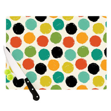 "Daisy Beatrice ""Retro Dots Repeat"" Multicolor Cutting Board"